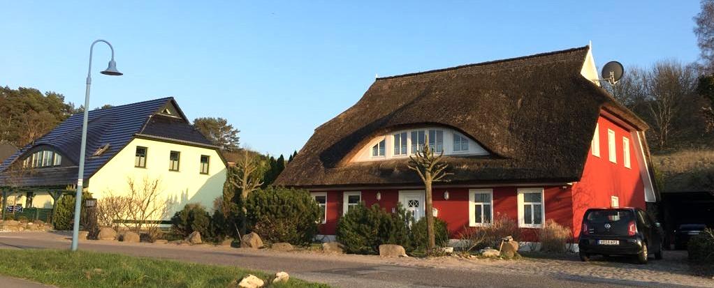dom z dachem z trzciny