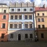 Niebieska kamienica na lubelskiej Starówce