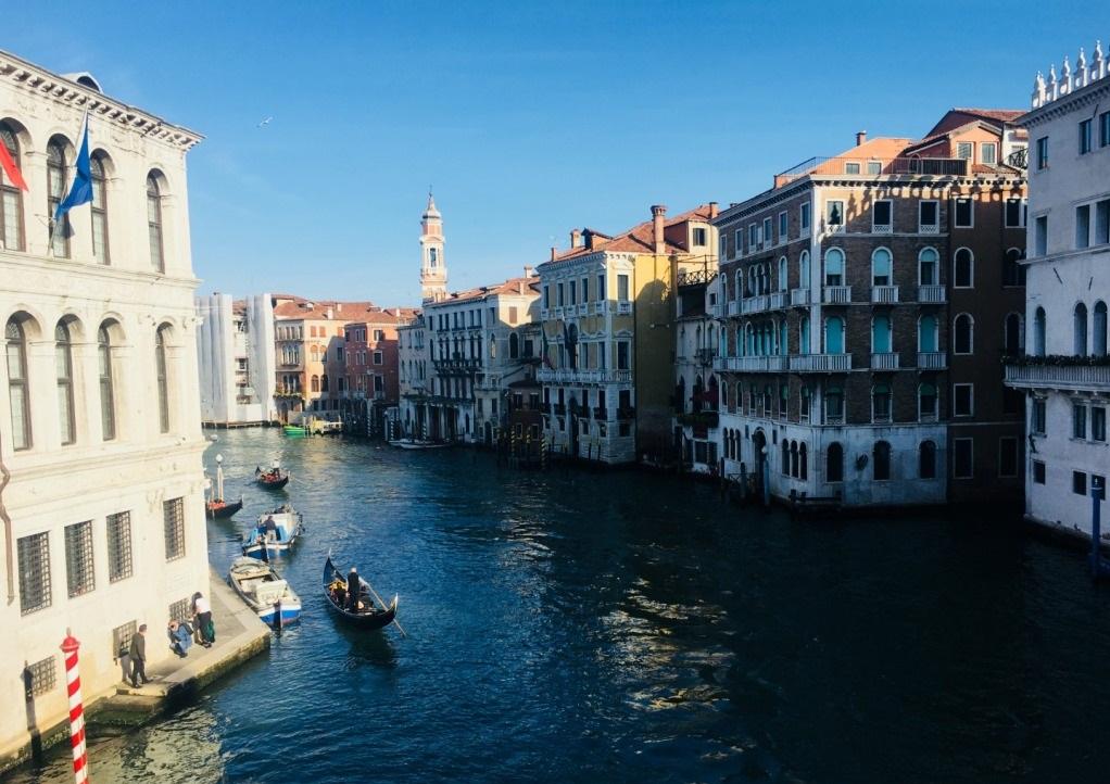 Wielki Kanał Główny Canale Grande Wenecja ze statkami