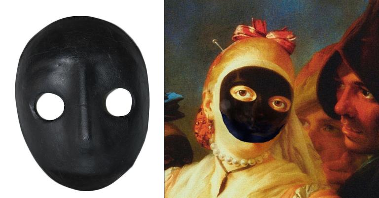 maska wenecka moretta