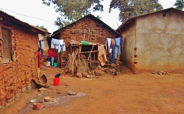 afrykanska wioska dom