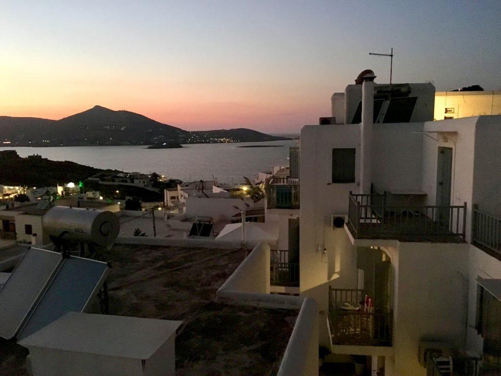 zachód słońca wyspy greckie