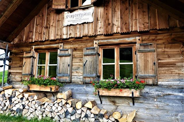 górska chata w alpach